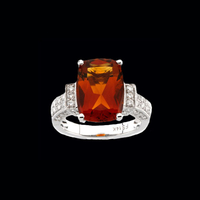 Madeira Citrine & Diamond Ring