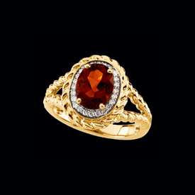 Radient Madeira Citrine & Diamond Ring
