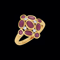 Mozambique Ruby & Diamond Ring