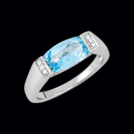 Modern Design Blue Topaz Ring