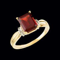 Two Tone Mozambique Garnet Ring