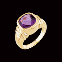 Bold Gold Amethyst Ring