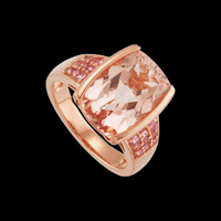 Morganite & Pink Tourmaline Ring