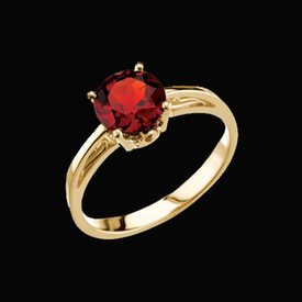 Gold and Garnet Ring