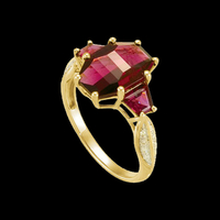 Brazilian Garnet & Diamond Ring