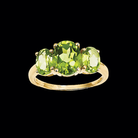 Peridot Three Stone Ring