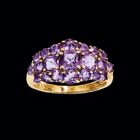 Pretty Amethyst Cluster Ring