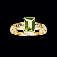 Peridot Traditional Design Ring
