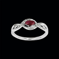 Marquise Ruby Gold Ring