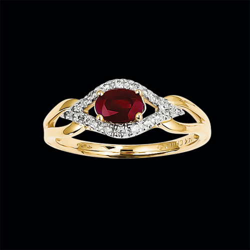 unique ruby and ring