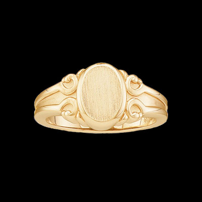 Ladies Gold Signet Ring