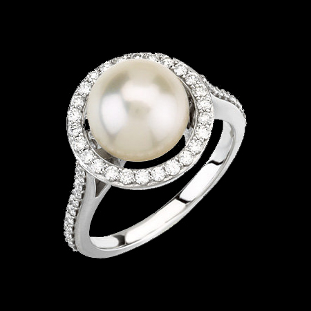 Pearl Halo Ring A Dazzling Present For Someone Special