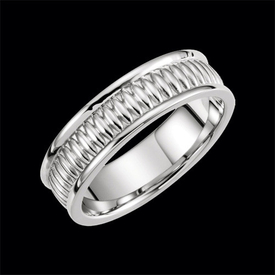 Gold Fancy Design Wedding Band