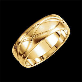 14kt Gold Fancy Design Wedding Band
