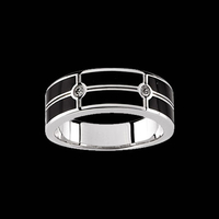 Mens Diamond Onyx Band