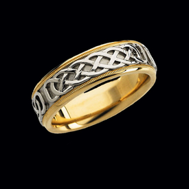 Celtic Two Tone Wedding Band