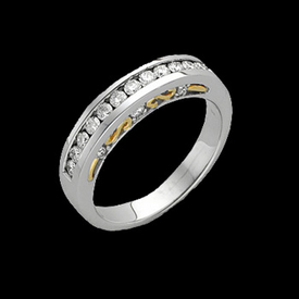 Platinum 18k Gold diamond Anniversary Band