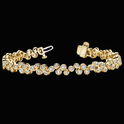 diamond chimento products white stretch bracelet gold