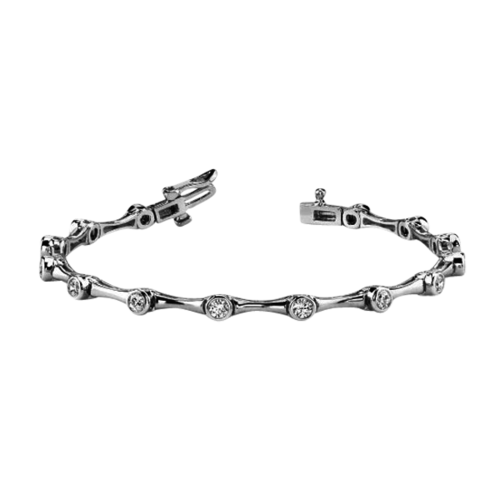 Bezel Set 2ct Diamond Bracelet