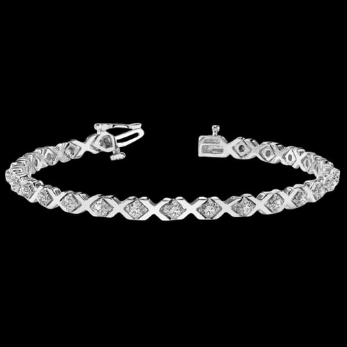 Diamond Hugs and Kisses Bracelet