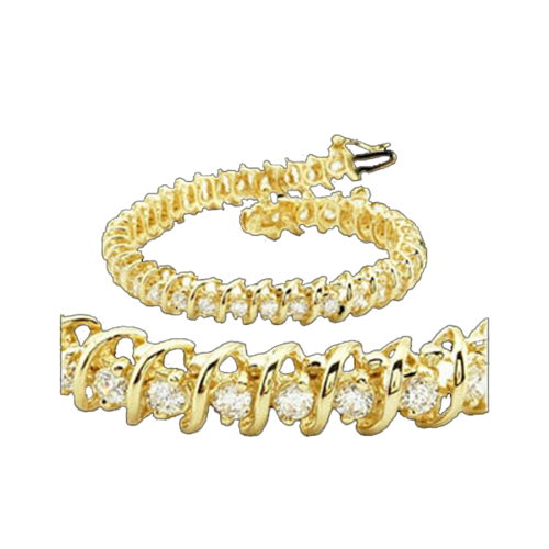 Curve Design Diamond Tennis Bracelet