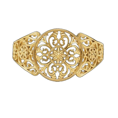 Filigree Design Cuff Bracelet