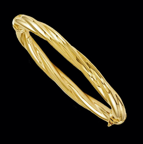 bangle loading ended en zoom twisted bracelets bangles plated gold open bracelet