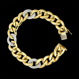 Diamond Bracelet Gold and Diamond Link Bracelet