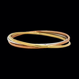 Tri Color 14Kt Bangle