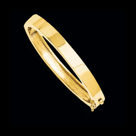 Gold Flat Design Bangle Bracelet