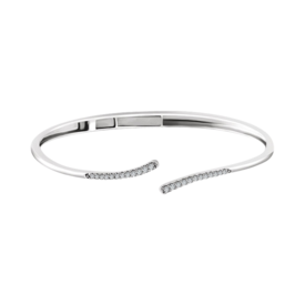 Diamond Bypass Hinged Bracelet