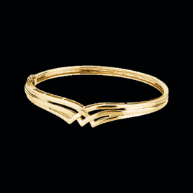 Designer White or Yellow Gold Bangle