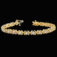 Fancy Hugs & Kisses Diamond Bracelet