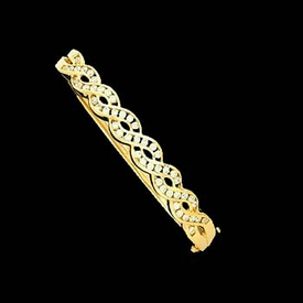 Diamond Twist Design Bangle