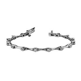 Diamond Bracelet Bezel Set 2ct Diamond Bracelet