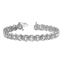 Diamond Bracelet Oval Design Diamond Bracelet