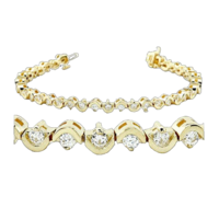 14kt Gold Diamond Bracelet
