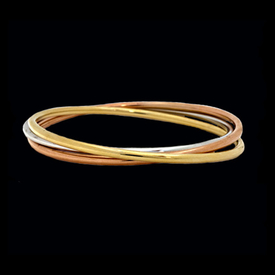 Tri Color Slip on Bangle Bracelets