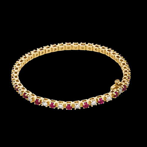 Ruby Amp Diamond Tennis Bracelet