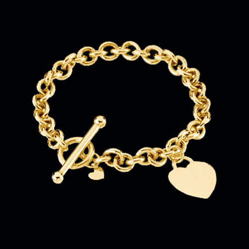 Gold Rolo Toggle Bracelet
