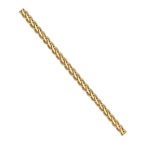 Gold 3mm Flat Wheat Chain