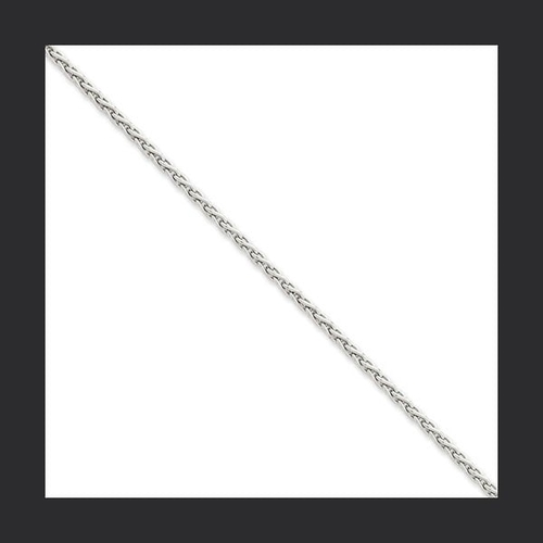 White Gold 1mm Parisian Wheat Chain
