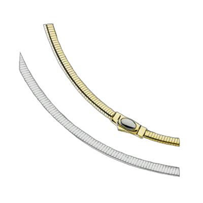14kt Gold Reversible Omega Chain
