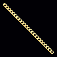 Gold Chain Gold Open Concave Curb Chain