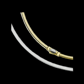 Gold Chain 14kt Gold 6mm Reversible Omega Chain