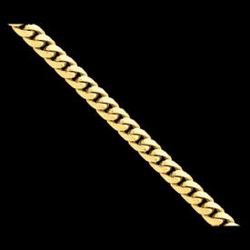 Domed Curb 14K Gold Chain