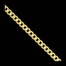 Concave Gold Curb Chain