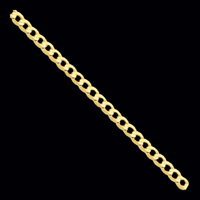Gold Open Concave Curb Chain