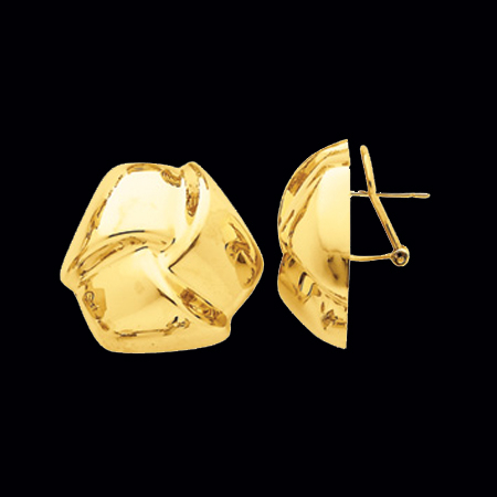 Puffed Knot Gold Earring