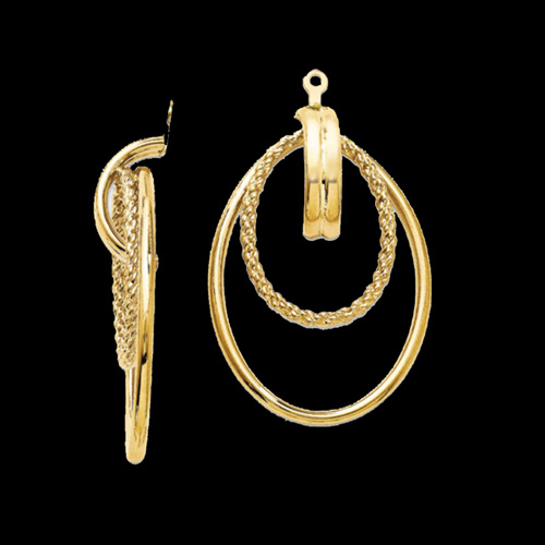 Large 14kt Gold Earring Jackets